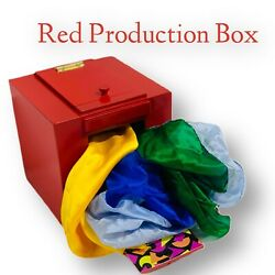 Red Production Box  Mirror Box Stage Magic Illusion Candy Stuffed Animal New