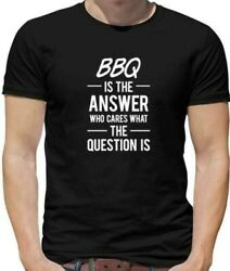 Bbq Is The Answer Mens T-shirt - Barbecue - Burgers - Summer - Party - Food