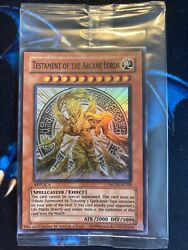 Testament Of The Arcane Lords Wcps-ae703 Super Rare Replica Sealed Yugioh