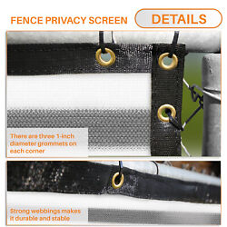 11ft Gray White Privacy Fence Screen Patio Yard 95 Blockage Mesh W/gromment