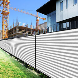 7ft Gray White Large Fence Privacy Screen 95 Blockage Mesh W/gromment