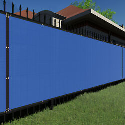 6ft Bluelarge Fence Privacy Screen 95 Blockage Mesh W/gromment