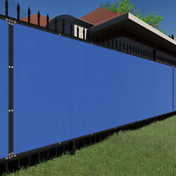 7ft Bluelarge Fence Privacy Screen 95 Blockage Mesh W/gromment