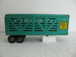 Vintage Structo Pressed Steel Cattle Farms Inc. Trailer Vg