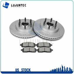 Front Ceramic Pads And Rotors Brake Disc For 2004-2008 Ford F-150 4.2l