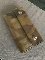 Chrome Hearts Authentic Wave Wallet Long Camouflage Accessories