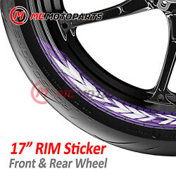 Arrow Motorcycle 17and039and039 Wheels Racing Rim Stickers Stretchable Decals Tape Set -mc