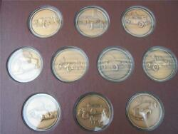 The Great Classic Cars Hamilton Mint Complete Medal Set Collectible