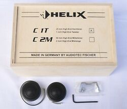 Helix C 1t 1/25mm Dome High-end Tweeters, Made In Germany, Wooden Box, 100 New