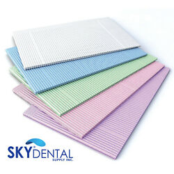 2000 Disposable 2+1ply Patient Bibs Towels 18x13 For Tattoo Dental Medical