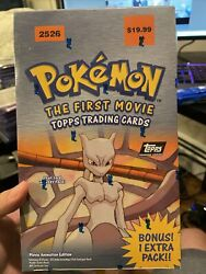 Topps Pokemon The First Movie Trading Cards 10 11 Booster Box New Sealed 2526