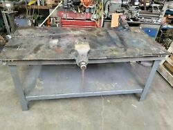 Heavy Duty 6and039 Welding Table With 5 And 3-1/2 Wilton Bullet Vise