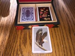 3 Decks Of Kem Playing Cards, Eagle 1985 Victorian 1993 And Maple