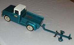Rare Collectible Vintage Tonka Toys 1961 Stepside Pickup Truck W Boat Trailer