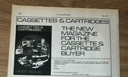 Stgmay1973 Pg2088 Advert5x8 Cassettes And Cartridges, New Magazine, 1st Issue