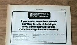 Stgfeb1974 Pg1653 Advert5x8 Cassettes And Cartridges, Best Magazine For Tapes