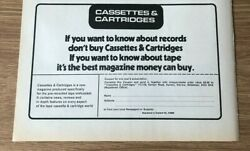 Stgjul1973 Pg250 Advert5x8 Cassettes And Cartridges, The Best Magazine To Buy