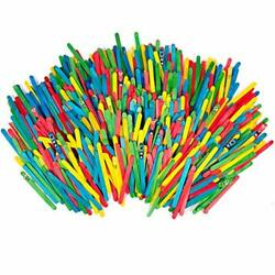 Horizon Group Usa Colored Wooden Craft Sticks Value Pack Of 4800 Wooden Stick...
