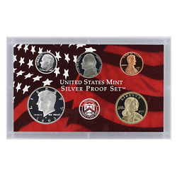 2003 S Partial Proof Set Kennedy Dime Nickel Cent 90 Silver Us Mint 5 Coins