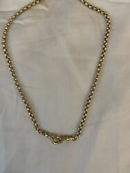 Antique 14kt Solid Yellow Gold Belcher Chain W/dog Clip 18kcharm Not Included