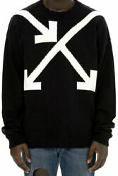 Off White Twisted Arrow Knit Sweater