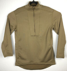 Orc Industries L2 Long Sleeve Top Brown Quarter Zip Men's Small Waffle Pullover