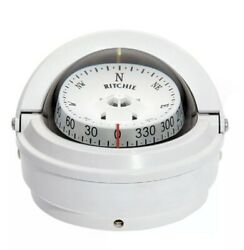 Ritchie Voyager Compass S-87 - Surface Mount - White