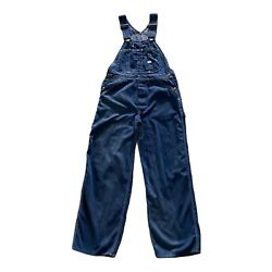 Vintage Lee Bib Riveted Dungaree Button Fly Overalls Men Inseam 27in No Size Tag
