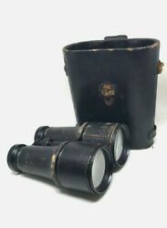 Us Civil War Binoculars Marked Paris Marchand Glasses In Leather Case