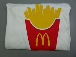 Menand039s Mcdonaldand039s French Fries T-shirt White Hanes Size L
