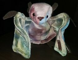 Rare Retired Ty Beanie Baby Tie-dyed Batty The Bat Mint 1996 Tags Errors