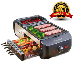 Multifunctional Electric Griddle Hot Pot Bbq Barbecue Grill Machine Free Shippin