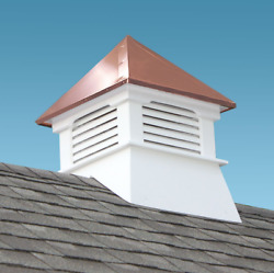 Composite Vinyl Cupola With Copper Roof White Cellular Pvc Louvered Roof Square