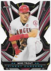 2021 Topps Finest Careers Mike Trout Kintsukuroi Black Gold Fci-9 Angels Sp