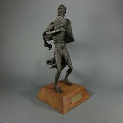 W.h. Ohlson Cast Iron Sculpture Of Moses Brutalists Style Art On 18.5 Tall