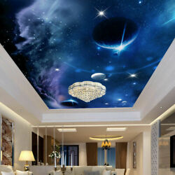 3d Universe Space Planets Stars Ceiling Wall Mural Wallpaper Bedroom Living Room