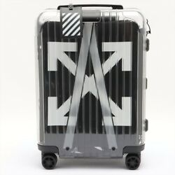 Off-white Carry Case Clear Rimowa Setting Number 000 Roller X4
