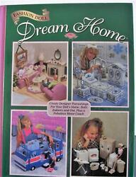 Fashion Doll Dream Home Vintage Hard Cover Plastic Canvas Pattern Book