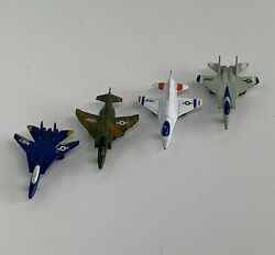 Lot Of 4 Vintage Tootsie Toy Airplanes F-14 /f-4/ F-106/ F-15 Ships Free