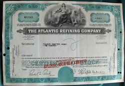 Atlantic Refining Now Richfield Comp. Stock Certificate Payee Tulocay Cemetery