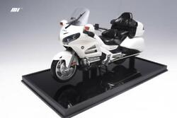 1/8 Motorhelix Honda Goldwing Gl 1800 In White Diecast All Opening Parts