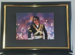 Michael Jackson Hand Signed Photo - Framed With Coa - Authentic Autograph