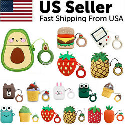 Cute 3D Cartoon Silicone Protective Case Cover For AirPod AirPods 1 2 Keychain $3.99