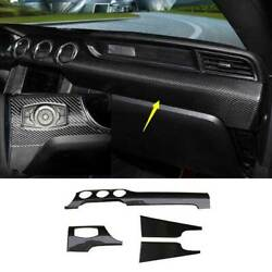 For Ford Mustang 2015-2021 Dry Carbon Fiber Central Console Dashboard Strip Trim