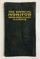 Vintage 1916 The Official Monitor Grand Lodge Af And Am Illinois Freemasonry Book