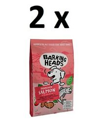 2 X Barking Heads Pooched Salmon Grain Free Dry Dog Food 12kg Bbe 17/08/22 Cheap