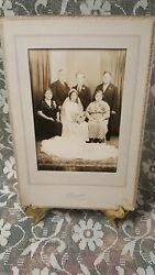 Old Photos - Wedding. Possibly Bride And Bridegroom And Parents Phila,pa.