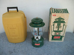 Vintage Coleman Camp Lantern 220f In Box And Clam Case 1