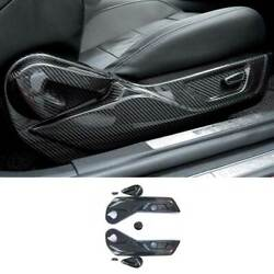 For Ford Mustang 2015-2021 Dry Carbon Fiber Seat Adjust Handle Button Panel Trim