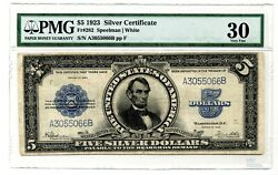 1914 5 Silver Certificate Port Hole Fr 282 Pmg Vf30 Large Currency